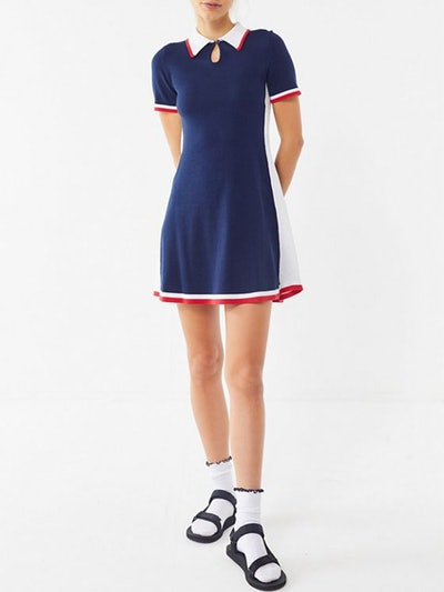 Bridgitte Colorblock Polo Shirt Dress