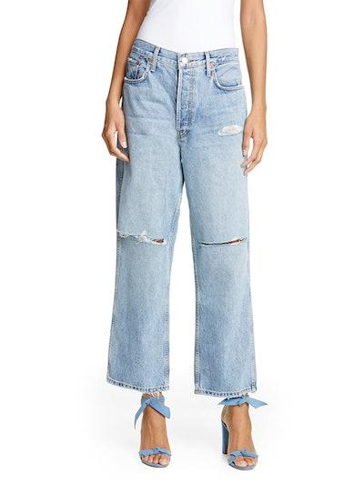 Low Slung Crop Jeans
