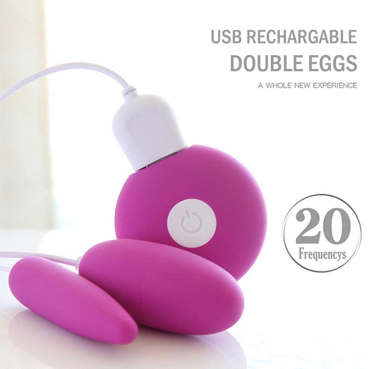 Fuvib Vibrating Double Love Bullet Eggs