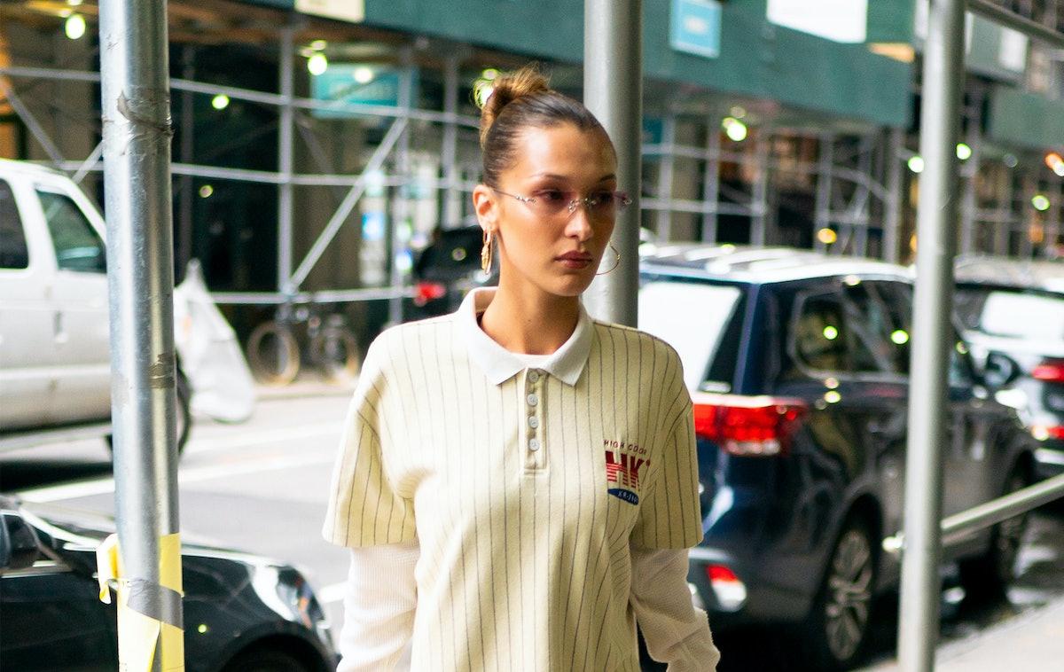 Bella Hadid's T-Shirt Dress Is A Stylish Approach To Sportswear