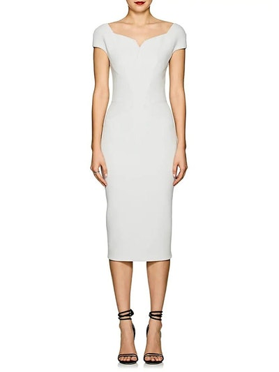 Bonded Crepe Fitted Sheath Dress