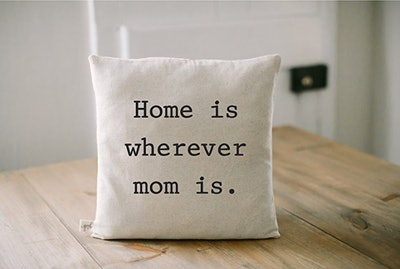 How is Wherever Mom Is Pillow Cover