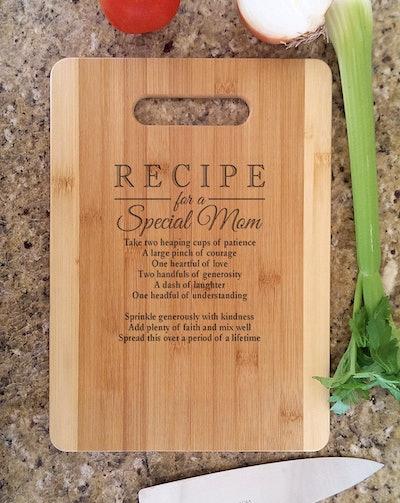Recipe for a Special Mom Cutting Board