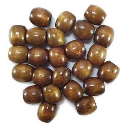 16mm Wooden Hair Beads