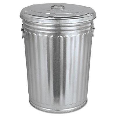 Pre-Galvanized Steel Trash Can, 20-Gallon