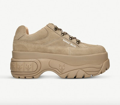 Naked Wolfe Sporty Suede Platform Trainers
