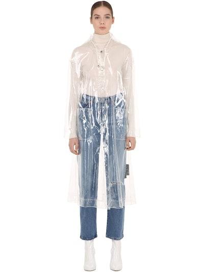 Carla Hooded Transparent Raincoat