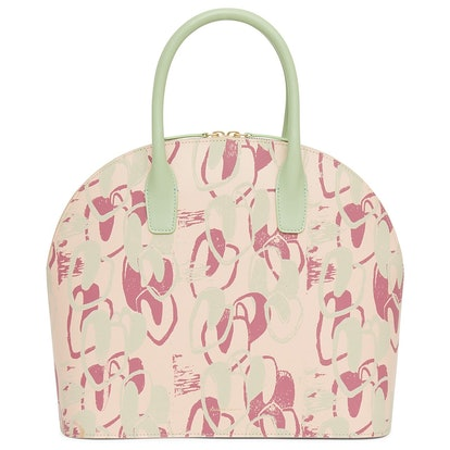Calf Top Handle Rounded Bag with Marc Camille Chaimowicz Print