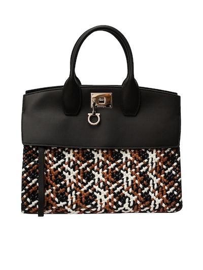 Salvatore Ferragamo Medium Woven Studio Bag