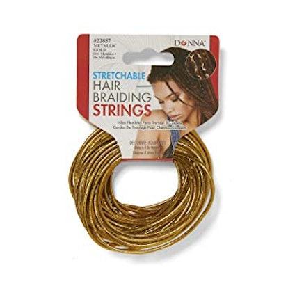 Gold Stretchable Hair Braiding String