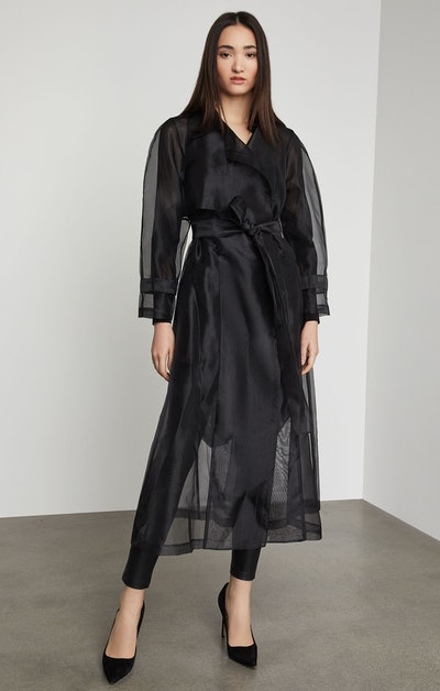Calico Long Trench Coat