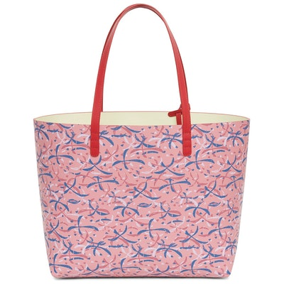 Calf Large Tote with Marc Camille Chaimowicz Print