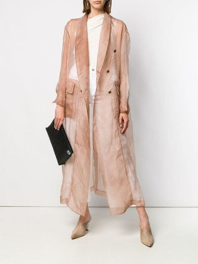Caspian Sheer Trench Coat