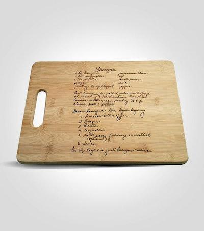 Custom Engraved Family Recipe Cutting Board