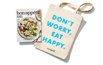 1 year of Bon Appétit + our new tote