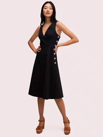 Scallop Jacquard Midi Dress