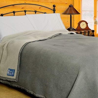 Poyet Motte Aubisque Heavyweight 100 Percent Wool Blanket