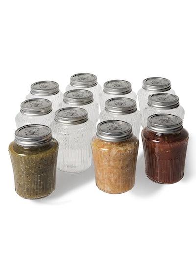 Vintage Preserve Canning Jars, 17 oz.