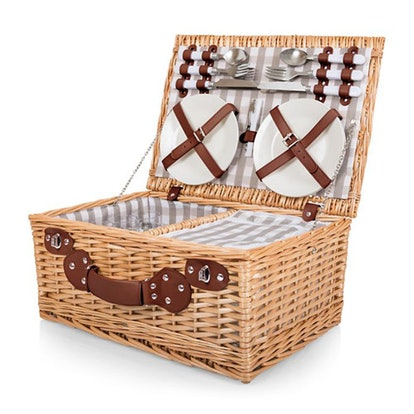 22-Piece Insulated Picnic Basket For 4