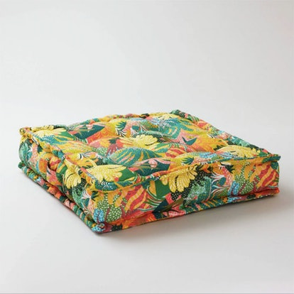 Square Jungle Brush Outdoor Tufted Cushion