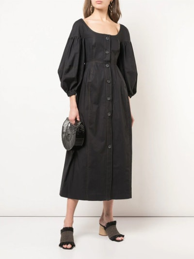 Denim Paneled Dress