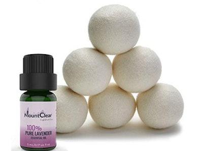 Mountclear Lavender Scented Wool Dryer Balls (Set Of 6)