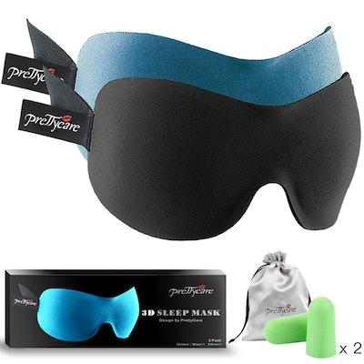PrettyCare 3-D Sleep Masks (Pack of 2)