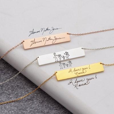Handwriting Turned Into Jewelry