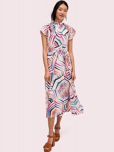 Geobrella Silk Midi Dress