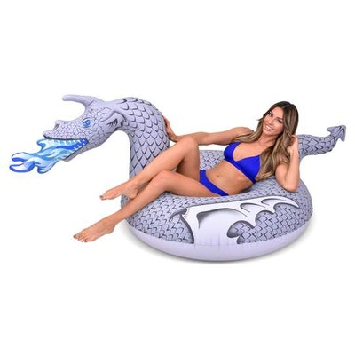 GoFloats Ice Dragon Pool Float - Inflatable Raft for Adults & Kids