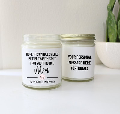 Personalized Custom Scented Soy Candle