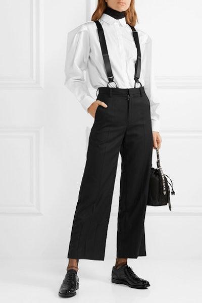 Wool-Gabardine Straight-Leg Pants