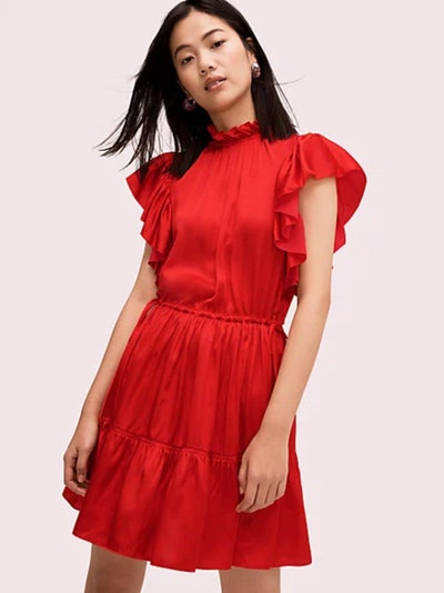 Tiered High Neck Dress