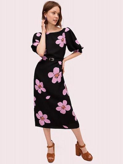 Grand Flora Button Back Dress