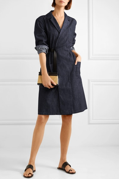 Belted Denim Dress