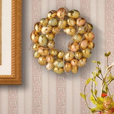 Gilded Easter Egg Wreath