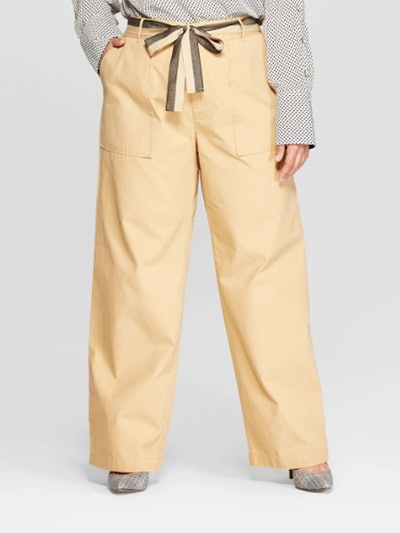 Duo Front Pocket Straight Wide Leg Cargo Pants