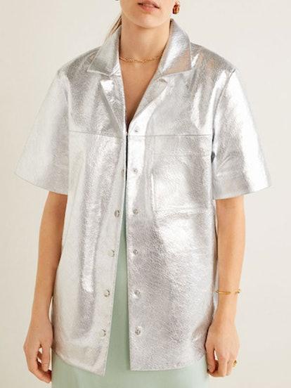 Metallic Leather Shirt