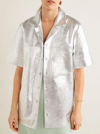 Metallic Leather Shirt