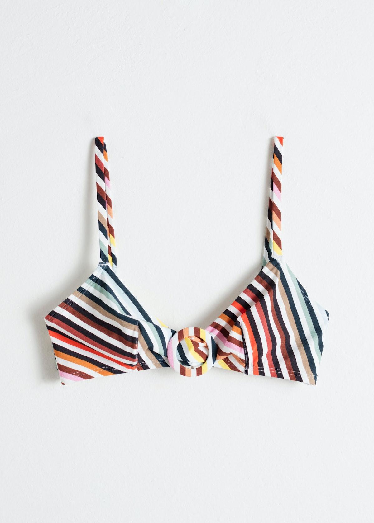 Rainbow Stripe O-Ring Bikini top