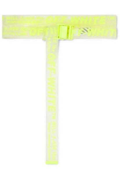OFF WHITE Neon printed PVC belt