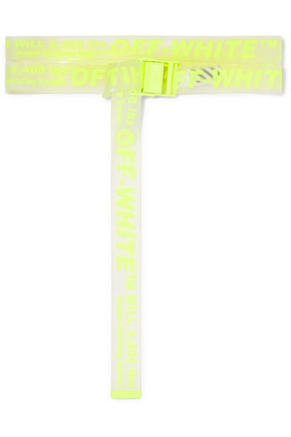OFF WHITE Neon printed PVC belt