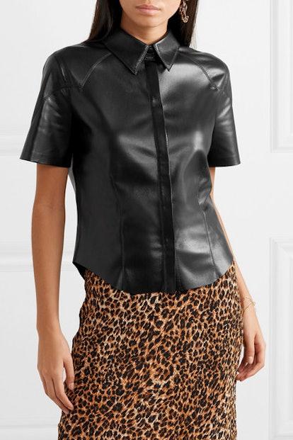 Clare Vegan Leather Shirt