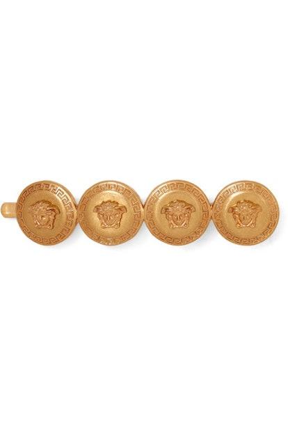 Versace Medusa gold-tone hair slide