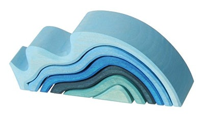 GRIMMS Puzzle Water Waves Blue