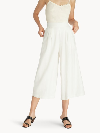 Purpose High Waisted Culottes - White