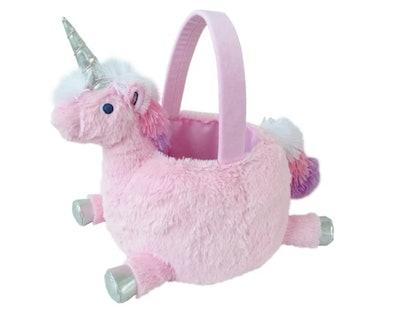 "13"" Plush Unicorn Easter Basket by Spritz"