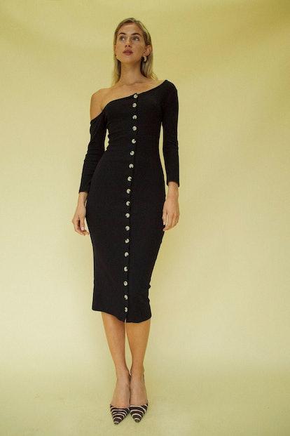 Gemma Cardigan Dress Black