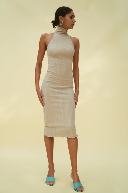 Cami Turtleneck Dress Beige