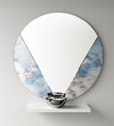 Mirror CO-OP Art Deco Antiqued Mirror